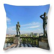 The Historical Castle - Chapultepec Castle Throw Pillow