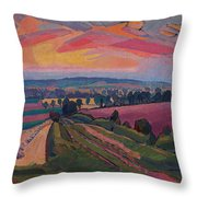 The Icknield Way Throw Pillow