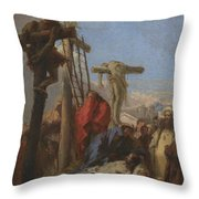 The Lamentation At The Foot Of The Cross   Throw Pillow