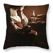 The Magdalen With The Smoking Flame Throw Pillow