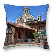 The Mission Inn Throw Pillow