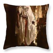 The Moorish Chief Throw Pillow