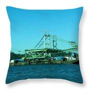 The New Tacoma Narrows Bridge Throw Pillow