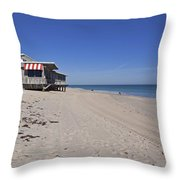 The Ocean Grill At Vero Beach In Florida Throw Pillow