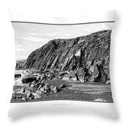 The Pembrokeshire Coast Throw Pillow
