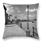 The Promenade At Barton Marina Throw Pillow