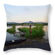 The River Suir Throw Pillow