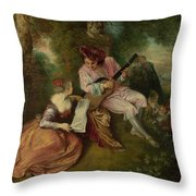 The Scale Of Love Throw Pillow