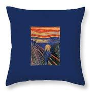 The Scream Ver 1895 Edvard Munch Throw Pillow