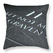 The Second Commandment Throw Pillow