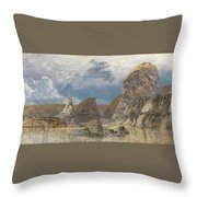 The Shallows Of Hareslade Cove Throw Pillow