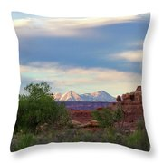The Shining Mountains Throw Pillow