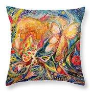 The Shining Of Jerusalem Throw Pillow