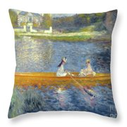 The Skiff Throw Pillow