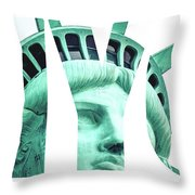 The Statue Of Liberty At New York City  Throw Pillow