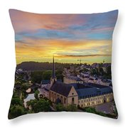 The Superb View Of The Grund, Luxembourg Throw Pillow