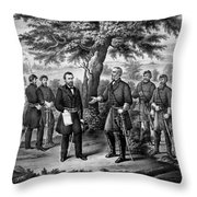 The Surrender Of General Lee Throw Pillow