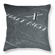 The Tenth Commandment Throw Pillow