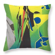 The Time Reaper Throw Pillow