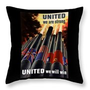 The United Nations Fight For Freedom Throw Pillow