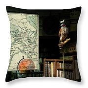 The Victorian Astronomer Throw Pillow
