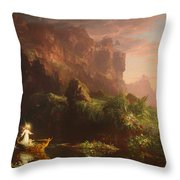 The Voyage Of Life - Childhood Throw Pillow