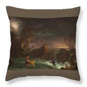 The Voyage Of Life Throw Pillow