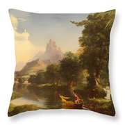 The Voyage Of Life - Youth Throw Pillow