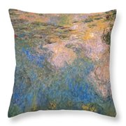 The Water-lilies Pond  Throw Pillow