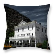 The Western Hotel Throw Pillow