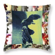 The Winged Victory - Paris - Louvre Throw Pillow by Marianna Mills