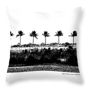 Tiger Tail Beach Throw Pillow