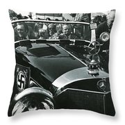 Tom Barrett And Family With High Bidder  Earl Clark At $153,000 Of Adolf Hitlers Mercedes Benz 770k Throw Pillow