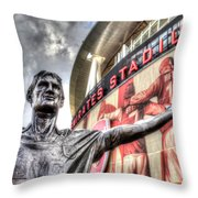 Tony Adams Statue Emirates Stadium Throw Pillow