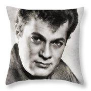 Tony Curtis, Vintage Hollywood Legend Throw Pillow