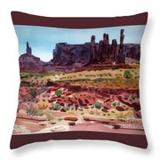 Totem Poles Throw Pillow