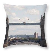 Tower Bridge.  Throw Pillow