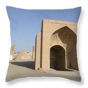 Towers Of Silence. Yazd, Iran Throw Pillow
