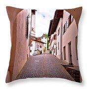 Town Of Kastelruth Street View Throw Pillow