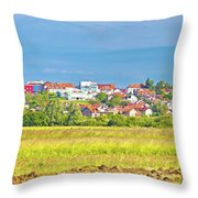 Town Of Vrbovec Landscape And Architecture Throw Pillow