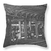 Train Station Series Throw Pillow