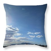 Travelling To Flagstaff Throw Pillow