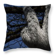 Tree Decorated With Apes Throw Pillow