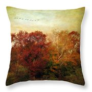 Treetops Throw Pillow by Jessica Jenney