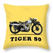 Triumph Tiger 80 1937 Throw Pillow