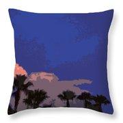 Tropic Twilight Throw Pillow
