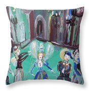 Tudor Fairies Throw Pillow
