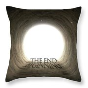 Tunnel Text And Shadow Concept Throw Pillow