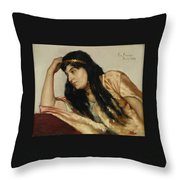 Turkish Woman Throw Pillow