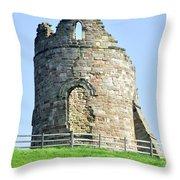 Tutbury Castle Ruins Throw Pillow